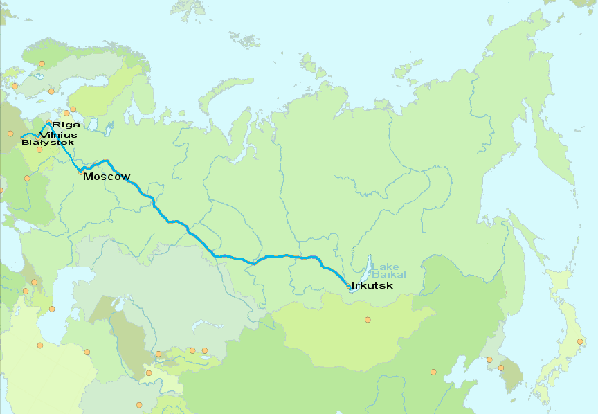 Route taken for Part 2 The 2005